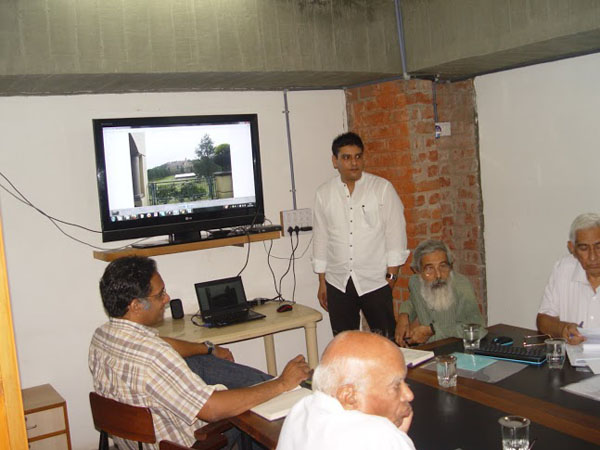 The 4th meeting of the Gandhi Heritage Site Mission was held on the 19th of August, 2014 at the iconic site of Sabarmati Ashram. The members discussed various projects related to Gandhi Heritage Sites.