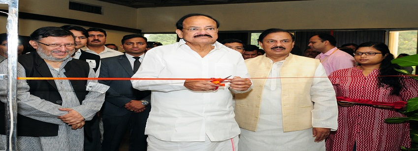The Vice President, Shri M. Venkaiah Naidu inaugurating an Exhibition on Sardar Patel at Nehru Memor...