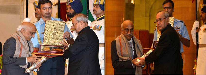 Gandhi Peace Prize – 2014 awarded to ISRO in a glittering ceremony at Rashtrapati Bhawan &nbs...