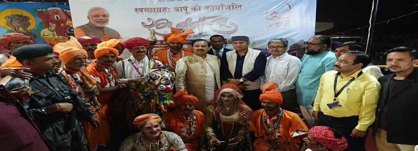 The Minister of State for Culture (I/C), Dr. Mahesh Sharma at the concluding Ceremony of Swachhgrah ...