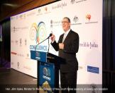 Hon. John Ajaka, Minister for Multiculturalism of New South Wales speaking at Gala Event reception