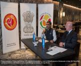 Press Conference on 'Indian Food Festival' at NH Collection Eurobuilding on June 15, 2016 with presence of Ambassador of India, Shri Vikram Misri, and Director General of NH Hotels Group for Spain, Portugal and Andorra, Mr Hugo Rovira.